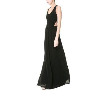 Zara Trafaluc Maxi Cut Out Dress